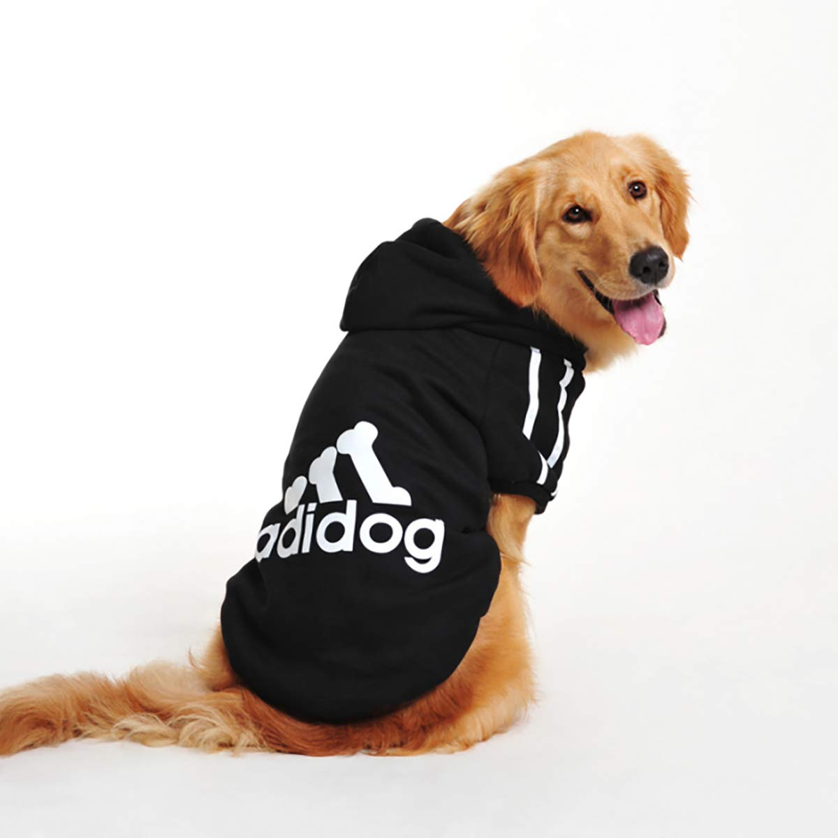 BLACK 6XL BLACK 6XL InnoPet Dog Clothes, Large Dog Adidog Hoodie Costume Outfits Sweater Dog Winter Coat Warm Sweatshirt Winter Jacket Dog Apparel for Cold Weather