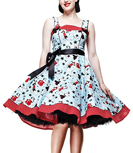 Blau Kleid Bunny DRESS DIXIE Hell w1SvqSI
