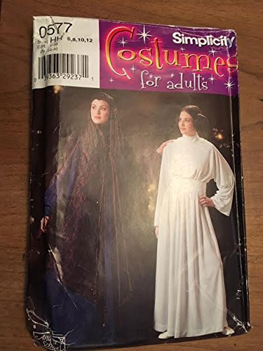 (Simplicity 4443 / 0577 Sewing Pattern, Misses' Star Wars Costume, Size HH)