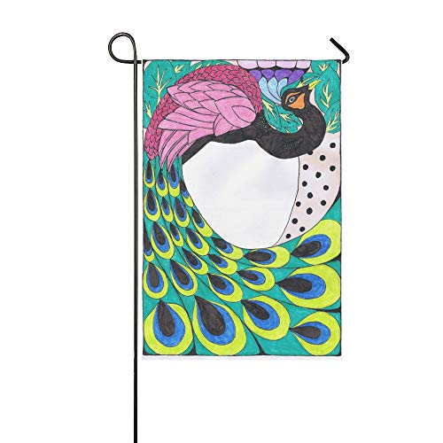 KUneh Home Decorative Outdoor Double Sided Peacock Art Nouveau by Sonjal On Clipart Library Garden Flag,House Yard Flag,Garden Yard Decorations,Seasonal Welcome Outdoor Flag 12 X 18 Inch Gift