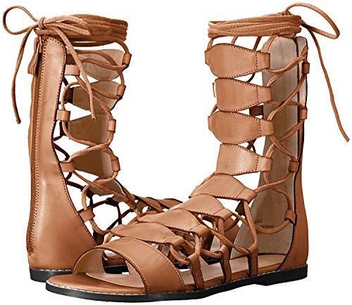(Very Volatile Women's Tansy Flat Sandal, Brown, 8 B US)