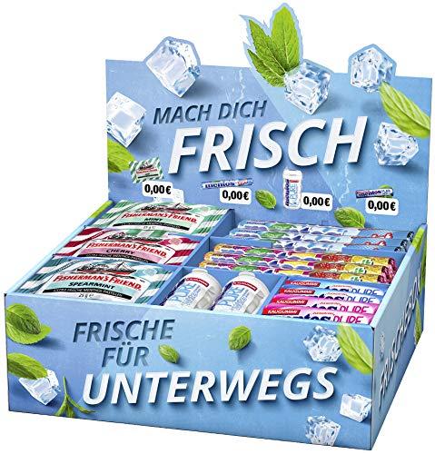 Mentos Mix-Karton inkl. Fisherman's Friends, Kaugummis + Kaubonbons + Pastillen, 2,36 kg Markenware für Wiederverkäufer, Zuhause oder als Vorratspack