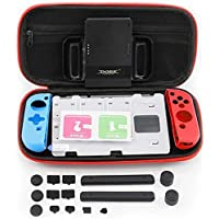 7 IN 1The latest Super Game Kit EVA Bags Carrying Case Storage Black with Grip and Glass film For Nintendo Switch