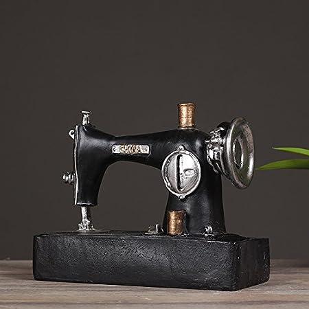 Decorativos Figuras Salon Candelabros De Jardin Exterior Miniatura Decoración De La Sala De Máquinas De Coser Vintage Adornos Artesanías: Amazon.es: Hogar
