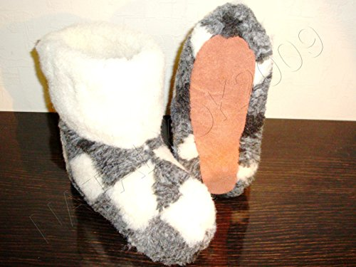 100% Pure Sheep Wool Slippers, New Genuine Felt Merino Boots, Women Us Size 10, Valenki (Felt Valenki)