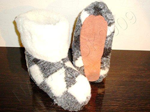 100% Pure Sheep Wool Slippers, New Genuine Felt Merino Boots, Women Us Size 10, Valenki (Valenki Felt)