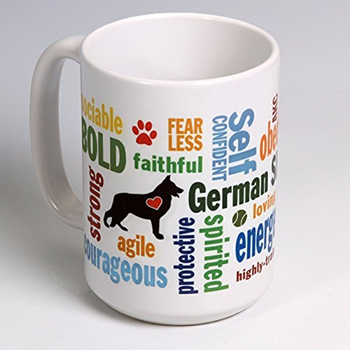 15 oz. Personalize this Ceramic German Shepherd Coffee/Tea Mug ~ perfect for a dog or pet lover ~ can be ()