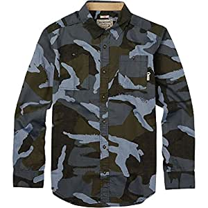 BURTON Men's Glade Long Sleeve Shirt, Small, Beetle Derby Camouflage Chambray