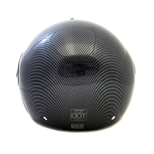 Motorcycle Powersports Open Face Helmet DOT Street Legal - FlipUp Clear Shield - Carbon Fiber (Size: XXL) by MMG (Image #2)
