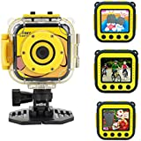 Toprui Kids 1080P Camera Waterproof Digital Video HD Sports Action Camera Portable Outdoor Learn Camcorder DV with 1.77inch LCD Screen for Boy Girl Kids Birthday Holiday Toy Gift