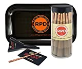 Bundle - 3 Items - 50 Natural RAW King Size Cones, RAW Loader with Rolling Paper Depot Rolling Tray (Carbon)