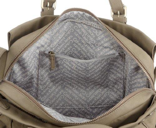 Calvin Klein Jeans Misha CSH005 AAW00, Damen Henkeltaschen 40 x 28 x 8 cm (B x H x T) Beige (065)
