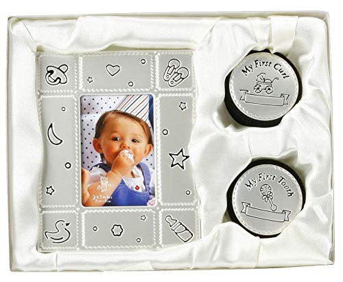 Haysom Interiors First Tooth and Curl Keepsake Box with Photo Frame by Happy Homewares