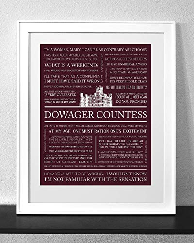 Customized Downton Abbey Quotes Art Print Frame Not Included -