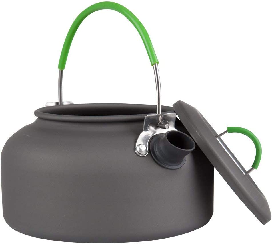 Trekking /& Outdoors Mountain Warehouse Camping Kettle Easy to Pack Ideal Camping Utensil for Hiking Durable Aluminium Compact Cutlery Lightweight Stove Kettle
