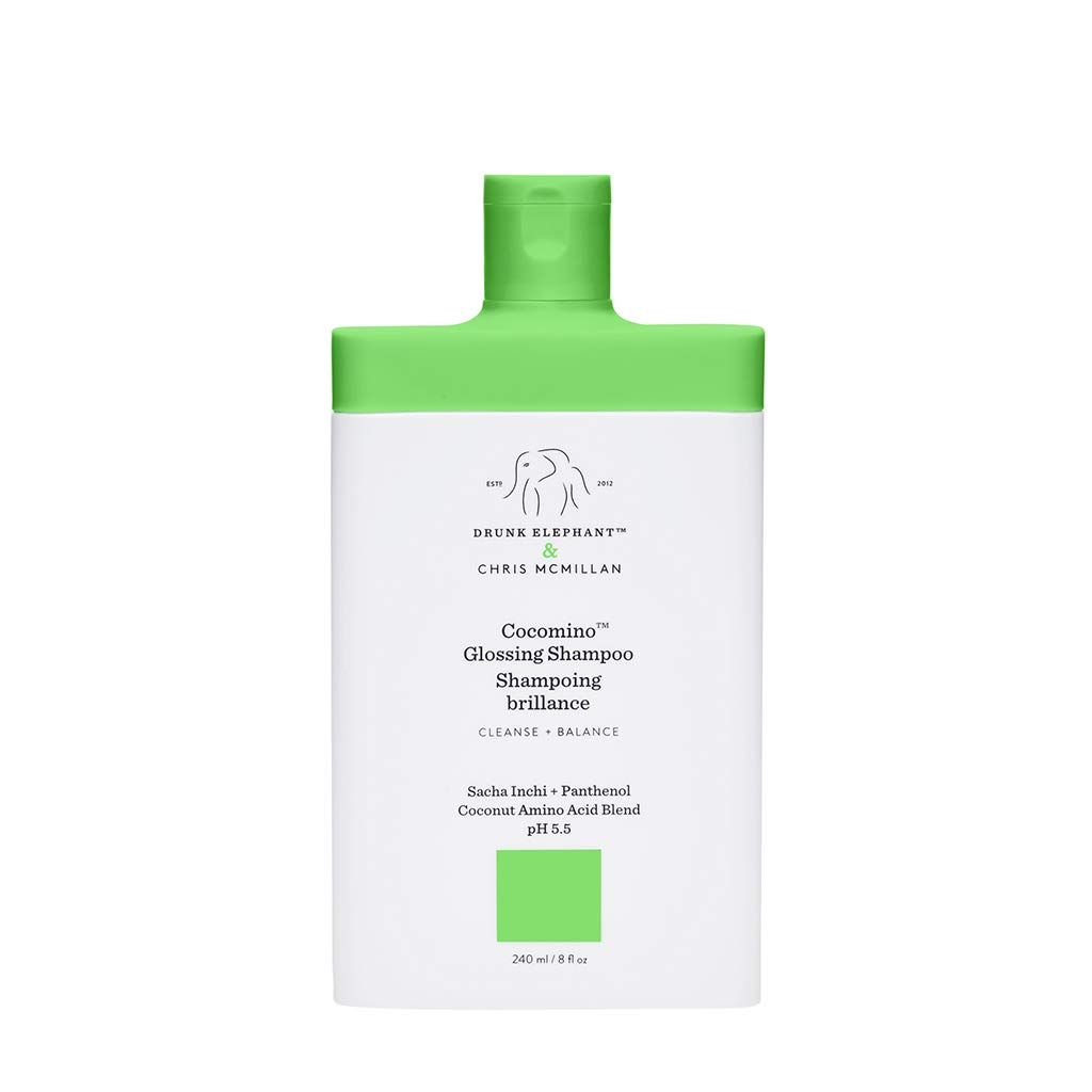 Drunk Elephant Cocomino Glossing Shampoo. Sulfate-Free and Color-Safe Gentle Shampoo for Hair and Scalp. (8 fluid ounces)