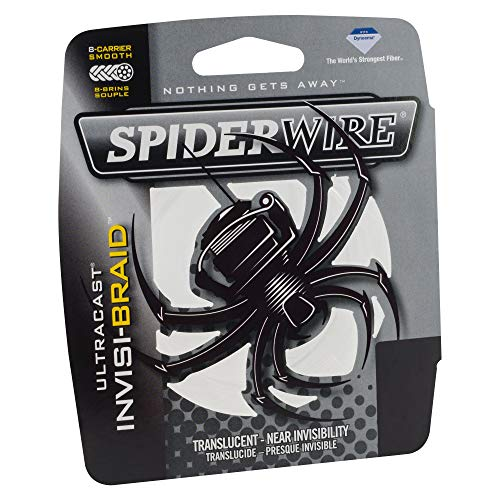 Spiderwire SCUC20IB-300 Ultracast Invisi-Braid Superline, Translucent, 20 Pound, 300 Yards