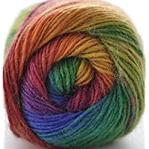 Rosecolor Hand Dyed Gradient Wool Yarn - Rainbow (1 Ball, 01)
