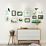Home@Wall photo frame Picture Frame Wall Set Of 9,Creative Sofa Background Wall Frame Wall Restaurant Living Room Bedroom Photo Wall ( Color : A )