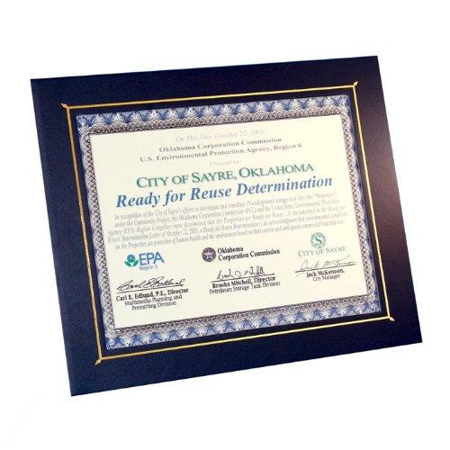 10-Pack Flat Certificate Photo Frames 8-1/2 X 11'' - Black