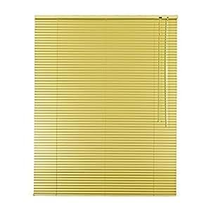 De alta calidad de aluminio de la persiana estor de 90 x 200 cm/90 x 200 cm en colour amarillo claro - lado operativo a la derecha // Diseño de ventana de persianas/de ventana de estor/aletas de aluminio/alu-de láminas