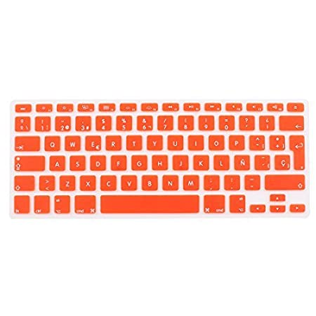 Amazon.com: eDealMax la piel del teclado español Cover Orange UE Para MacBook Air 13 15 17 pulgadas: Computers & Accessories