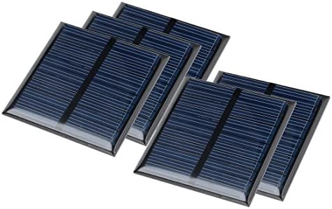 uxcell 5Pcs 5.5V 60mA Poly Mini Solar Cell Panel Module DIY for Light Toys Charger 60mm x 60mm