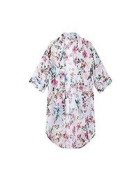 2018 Women's Floral Chiffon Kimono Cardigan Summer Blouse Swimsuit Beach Cover up