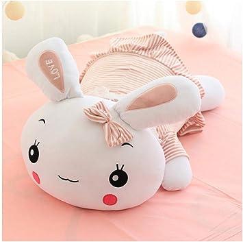 FUYUHAN Lindo Conejo mentiroso con Falda de Peluche de Peluche de Peluche Suave Animal Conejo muñeca bebé niños Juguetes Regalo de cumpleaños niña @ 3_70cm: Amazon.es: Juguetes y juegos