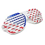 LUFF American/USA Flag Sunglasses Patriot Shutter Eyewear Party Props/Decoration Glasses for Men/Women