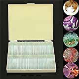 New 100Pcs Glass Prepared Basic Science Microscope Slides Sample Biology Pathology