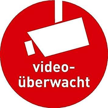 Lemax Aufkleber Videoüberwacht Mit Kamerasymbol Gemäß Din