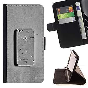 Momo Phone Case / Flip Funda de Cuero Case Cover - Teléfono gris Meta hormigón divertido - Sony Xperia M2