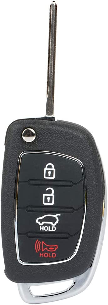 FINDAUTO 1 X New Replacement Keyless Entry Smart Remote Control Key Fob fit for 2015-2016 HYUNDAI SONATA REMOTE FLIP 2016-2017 HYUNDAI SONATA REMOTE FLIP with FCC ADP12513601S