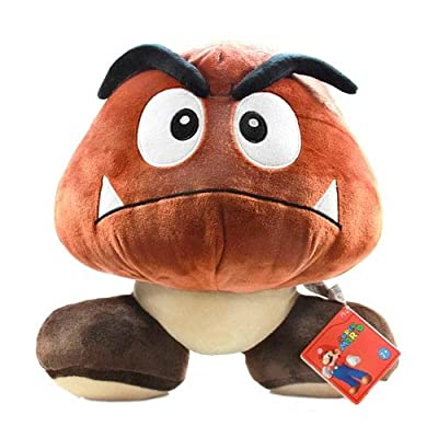 "Little Buddy 1245 Super Mario Series Goomba 12"" Plush: Toys & Games"