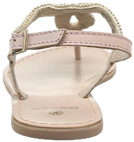 Nude Sandal Descubierta Mujer para Sandalias Beige Leather Carmen de Punta Pieces HPqvUwEU