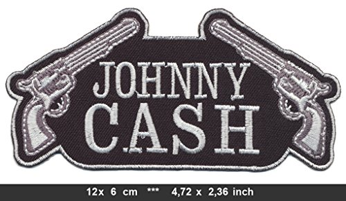 JOHNNY CASH GUNS Iron Sew On Cotton Patches Country Rock Solitary Man by Patchmaniac