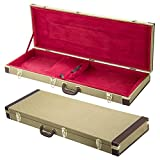 Yaheetech Rectangle Shaped Tweed Hardshell Guitar Case for Strat/Tele-Gold