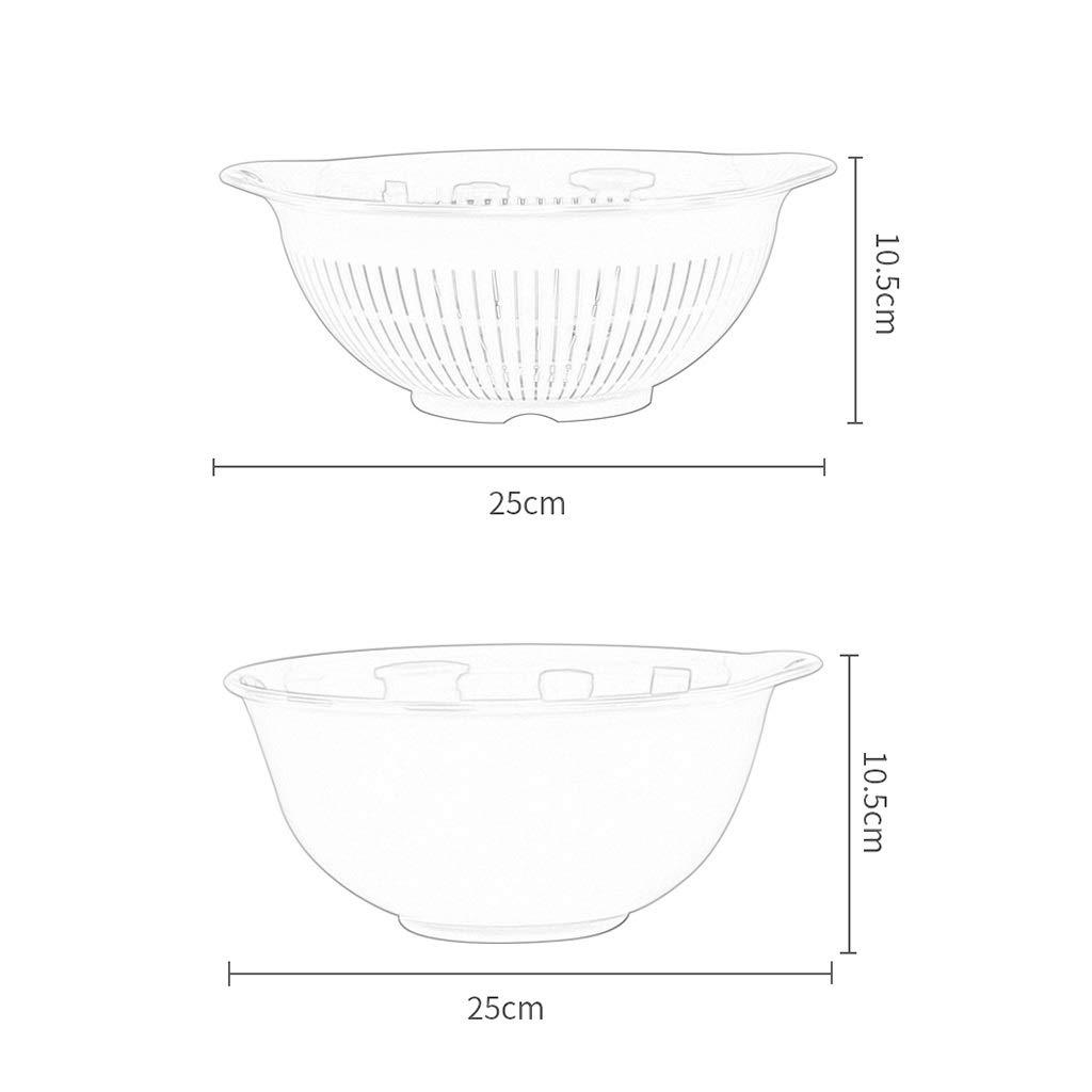 Nudelsieb Abtropfsieb Seiher Doppelablaufkorb Wäsche Obst Waschen Artefakt Teller Teller Teller Korb Waschbecken Küche Moderne Wohnzimmer Kreative Haushalt Obstteller (Farbe   Grün) B07NQLZC7W Seiher 17b358