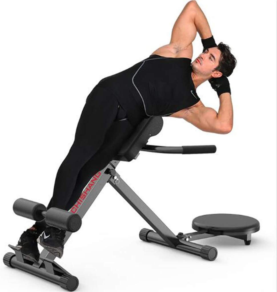 Heavy Duty Home Hyperextension Bench for Building Back Muscles Foldable Abdominal Fitness Bench Roman Chair Load 300kg Adjustable Back Hyper Extension Bench