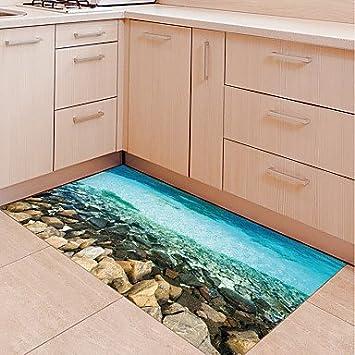 Hy Gg Diy 3d Shoal Rutschfester Boden Aufkleber Home Decor Pvc