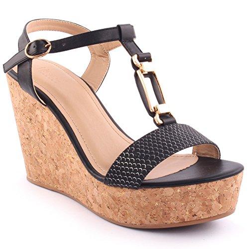 Unze New Women  Erric  Open Toe Wedge Sandals Summer Beach Travelling School Carnival Casual Shoes Uk Size 3 8   2B69170 7