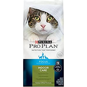 Purina Pro Plan Hairball, Healthy Weight, Indoor Dry Cat Food; FOCUS Indoor Care Turkey & Rice Formula - 16 lb. Bag 57