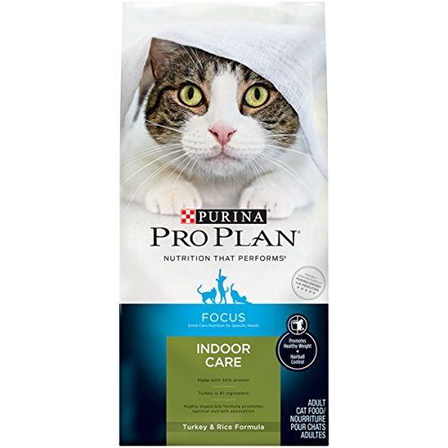 Purina Pro Plan Focus Indoor Care Turkey & Rice Formula Adult Dry Cat Food - 16 Lb. Bag