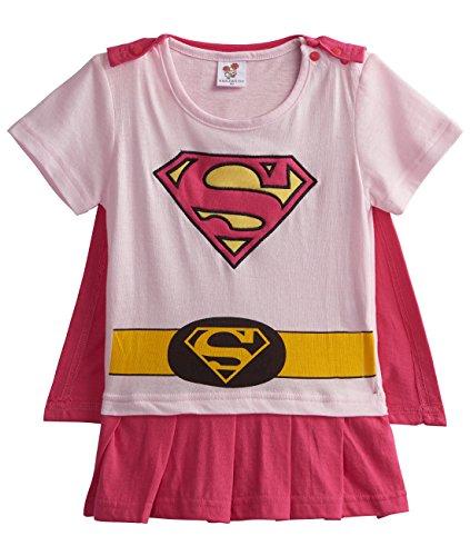 [A&J Design Baby Girls' Supergirl Short Sleeve Romper Costume (12-18 Months)] (Toddler Supergirl Costumes)