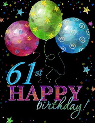 61st Happy Birthday Guest Book 61st Birthday Party Supplies In Al