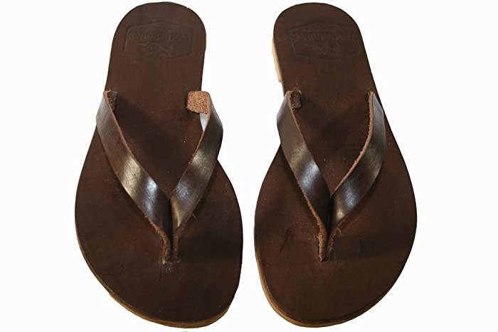 32fc4ad38c015d Image Unavailable. Image not available for. Color  Brown Surf Leather  Sandals for Women   Men - Handmade ...
