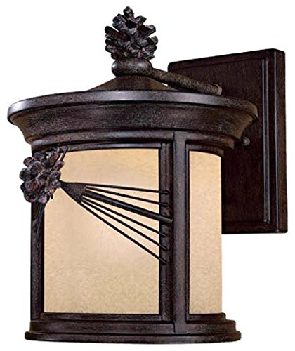 Minka Lavery Minka 9152-A357-PL Transitional One Light Wall Mount from Abbey Lane collection in Bronze/Darkfinish 1 Outdoor, Upc-747396080536