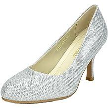 DREAM PAIRS Women's Suavee Low Heel Stiletto Pump Shoes