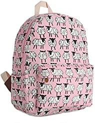 Gumstyle Canvas Travel School Bag Backpack Rucksack Sheep